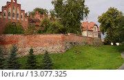 Купить «Teutonic castle in Sztum, Poland», видеоролик № 13077325, снято 15 октября 2015 г. (c) BestPhotoStudio / Фотобанк Лори