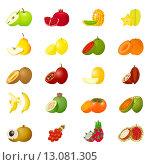 Купить «Набор рисунков фруктов», иллюстрация № 13081305 (c) Ирина Иглина / Фотобанк Лори
