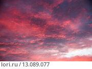 Купить «sky clouds sunset firmament armageddon», фото № 13089077, снято 24 ноября 2017 г. (c) PantherMedia / Фотобанк Лори