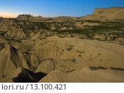 Купить «desert landscape of Navarra in moonlit night», фото № 13100421, снято 20 сентября 2019 г. (c) Яков Филимонов / Фотобанк Лори