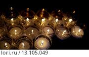 Купить «Group of burning candles», видеоролик № 13105049, снято 16 ноября 2015 г. (c) BestPhotoStudio / Фотобанк Лори