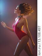 Купить «Walking brunette woman clothed swimsuit», фото № 13108497, снято 12 марта 2014 г. (c) Ingram Publishing / Фотобанк Лори