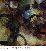 Купить «art abstract acrylic and pencil background in blue, grey, beige and black colors with grunge circles», фото № 13113773, снято 16 июля 2018 г. (c) Ingram Publishing / Фотобанк Лори