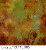 Купить «art autumn leaves background in orange, green and brown colors», фото № 13116905, снято 27 июня 2019 г. (c) Ingram Publishing / Фотобанк Лори