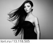 Купить «Fashion portrait of elegant woman with magnificent hair», фото № 13118505, снято 17 июля 2015 г. (c) Ingram Publishing / Фотобанк Лори