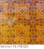 art abstract acrylic and pencil colorful background with damask pattern in orange and violet colors. Стоковое фото, агентство Ingram Publishing / Фотобанк Лори