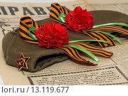 Георгиевская лента. Стоковое фото, фотограф Роман Червов / Фотобанк Лори