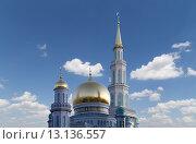 Купить «Московская соборная мечеть, Москва», фото № 13136557, снято 6 ноября 2015 г. (c) Владимир Журавлев / Фотобанк Лори
