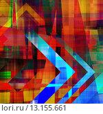 Купить «art abstract geometric textured rainbow background with circles with blue, orange, yellow, red and green colors», фото № 13155661, снято 24 сентября 2018 г. (c) Ingram Publishing / Фотобанк Лори