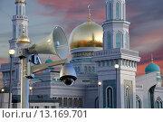 Купить «Московская соборная мечеть, Москва», фото № 13169701, снято 6 ноября 2015 г. (c) Владимир Журавлев / Фотобанк Лори