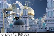 Купить «Московская соборная мечеть, Москва», фото № 13169705, снято 6 ноября 2015 г. (c) Владимир Журавлев / Фотобанк Лори
