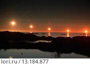 Купить «running of the midnightsun, multiple exposure, Norway, Vesteralen», фото № 13184877, снято 23 февраля 2020 г. (c) age Fotostock / Фотобанк Лори