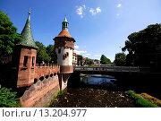 Bridge in the Dreisam river, Freiburg, Baden-Württemberg, Germany. Стоковое фото, фотограф Pablo Méndez / age Fotostock / Фотобанк Лори