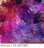 art abstract colorful acrylic and pencil background in pink, blue and violet colors. Стоковое фото, агентство Ingram Publishing / Фотобанк Лори