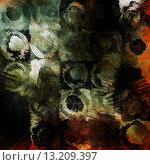 Купить «art abstract acrylic and pencil dark background in green, white, black, red and orange colors with grunge circles», фото № 13209397, снято 17 декабря 2018 г. (c) Ingram Publishing / Фотобанк Лори