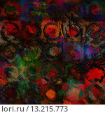 Купить «art abstract acrylic and pencil dark rainbow background in blue, black, red and green colors with grunge circles», фото № 13215773, снято 16 июля 2018 г. (c) Ingram Publishing / Фотобанк Лори