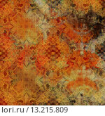 Купить «art abstract acrylic and pencil colorful background with damask pattern in orange, red, black, beige and brown colors», фото № 13215809, снято 21 ноября 2019 г. (c) Ingram Publishing / Фотобанк Лори