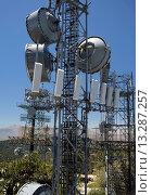 Купить «Twin Peaks, California - A communications tower on Strawberry Peak in the San Bernardino Mountains», фото № 13287257, снято 24 февраля 2019 г. (c) age Fotostock / Фотобанк Лори