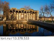 Купить «Uzbekistan, Bukhara, Unesco world heritage, Bolo Haouz mosque», фото № 13378533, снято 23 февраля 2019 г. (c) age Fotostock / Фотобанк Лори