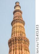 Башня Кутб Минар в Дели. Стоковое фото, фотограф Наталья Богуцкая / Фотобанк Лори