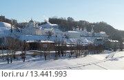 Нижний Новгород, вид на Благовещенский монастырь с Канавинского моста (2013 год). Стоковое фото, фотограф Евгений Захаров / Фотобанк Лори