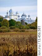 Купить «Юрьев монастырь в Великом Новгороде, Россия», фото № 13456581, снято 16 июня 2019 г. (c) Зезелина Марина / Фотобанк Лори