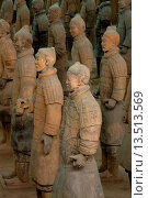 Купить «Excavated Terracotta warriors in Xian, China», фото № 13513569, снято 22 мая 2019 г. (c) age Fotostock / Фотобанк Лори