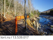 Купить «Trail washout along the Lincoln Woods Trail next to the East Branch of the Pemigewasset River in Lincoln, New Hampshire USA from Tropical Storm Irene in...», фото № 13539017, снято 17 августа 2019 г. (c) age Fotostock / Фотобанк Лори