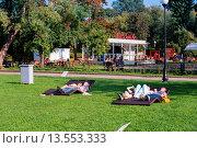 Купить «Small vintage cafe in Gorky park, Moscow, Russia», фото № 13553333, снято 20 февраля 2020 г. (c) age Fotostock / Фотобанк Лори