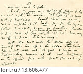 From the original manuscript of Oliver Twist by Charles Dickens, where ´The Dodger´ cheeks the magistrate  Charles John Huffam Dickens, 1812 –1870  English... Редакционное фото, фотограф Classic Vision / age Fotostock / Фотобанк Лори