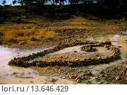Купить «Aboriginal fish traps, Darling River bed, Brewarrina, New South Wales, Australia», фото № 13646429, снято 23 января 2020 г. (c) age Fotostock / Фотобанк Лори