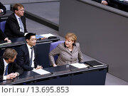 Купить «Berlin, 21th february, 2013. Angela has giving Government Statement at Bundestag in Berlin about the results of the European Council on the last 7th and...», фото № 13695853, снято 22 июля 2018 г. (c) age Fotostock / Фотобанк Лори