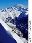 Купить «skiing in the Alps, Mont Blanc in background, France, Savoie, Courchevel», фото № 13754785, снято 11 декабря 2018 г. (c) age Fotostock / Фотобанк Лори