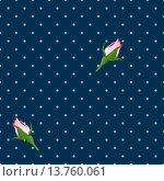 Бесшовный фон с розами. Стоковая иллюстрация, иллюстратор Вячеслав Плясенко / Фотобанк Лори
