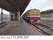Купить «Trains on the staion», фото № 13808209, снято 24 января 2019 г. (c) PantherMedia / Фотобанк Лори