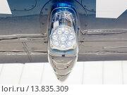 Купить «Крыло с огнями», фото № 13835309, снято 22 ноября 2019 г. (c) Mikhail Starodubov / Фотобанк Лори