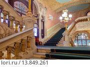 Купить «Palau de la Musica Catalana,stairs to the stalls, by Lluis Domenech i Montaner, Barcelona, Spain.», фото № 13849261, снято 23 апреля 2019 г. (c) age Fotostock / Фотобанк Лори