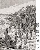 Battle of Bouvines, 1214. From Agenda Buvard du Bon Marche published 1917. Редакционное фото, фотограф Classic Vision / age Fotostock / Фотобанк Лори
