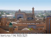 Купить «Перспектива древней Хивы. Узбекистан», фото № 14103521, снято 19 сентября 2007 г. (c) Elizaveta Kharicheva / Фотобанк Лори