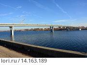 Балаково. Свежевыкрашенный мост готовиться к эксплуатации. Ноябрь 2015 г. Стоковое фото, фотограф Виктор Архипов / Фотобанк Лори