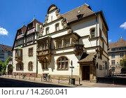 Купить «Marzolff house at Lycée des Pontonniers international high school Strasbourg Alsace France.», фото № 14260041, снято 21 апреля 2019 г. (c) age Fotostock / Фотобанк Лори