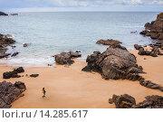 Купить «Plage des Soux, Ile d´ Yeu, Vendee, France.», фото № 14285617, снято 15 июля 2020 г. (c) age Fotostock / Фотобанк Лори