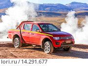 Купить «Mitsubishi L200», фото № 14291677, снято 16 ноября 2015 г. (c) Art Konovalov / Фотобанк Лори