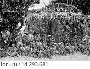 Купить «Local men in warriors costumes at cultural event in Tuvalu, South Pacific», фото № 14293681, снято 24 апреля 2019 г. (c) age Fotostock / Фотобанк Лори