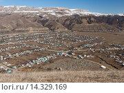Село в горах (2012 год). Стоковое фото, фотограф Сергей Серебряков / Фотобанк Лори