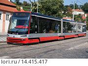 Купить «Tram in Mala Strana Neighborhood; Prague; Czech Republic; Europe.», фото № 14415417, снято 24 января 2014 г. (c) age Fotostock / Фотобанк Лори