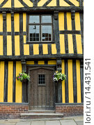 Tudor style timber-framed house in Ludlow, Shropshire, UK. Стоковое фото, фотограф Tim Graham / age Fotostock / Фотобанк Лори