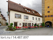 Купить «Outdoor Cafe Shopping Rothenburg Germany DE Franconia Bavaria.», фото № 14487897, снято 31 августа 2013 г. (c) age Fotostock / Фотобанк Лори