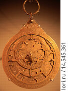 Купить «Qatar, Doha, Museum of Islamic Art, planispheric astrolabe, 14th century,.», фото № 14545361, снято 30 января 2014 г. (c) age Fotostock / Фотобанк Лори