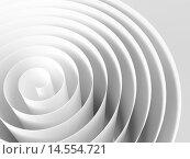 Белая абстрактная 3d спираль из бумажной ленты. Стоковая иллюстрация, иллюстратор EugeneSergeev / Фотобанк Лори